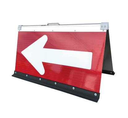 高輝度二方向矢印板 赤+白矢 450X900