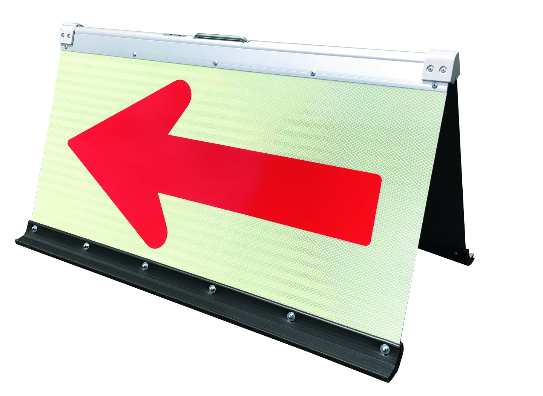 プリズム反射蓄光二方向矢印板 450×900
