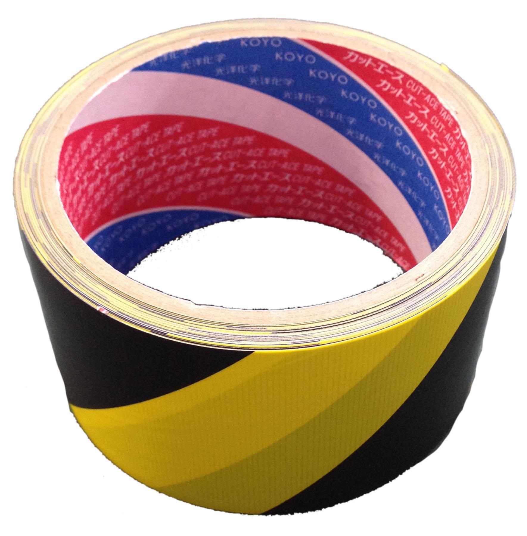 印刷表示テープ トラ柄 50mm×10M