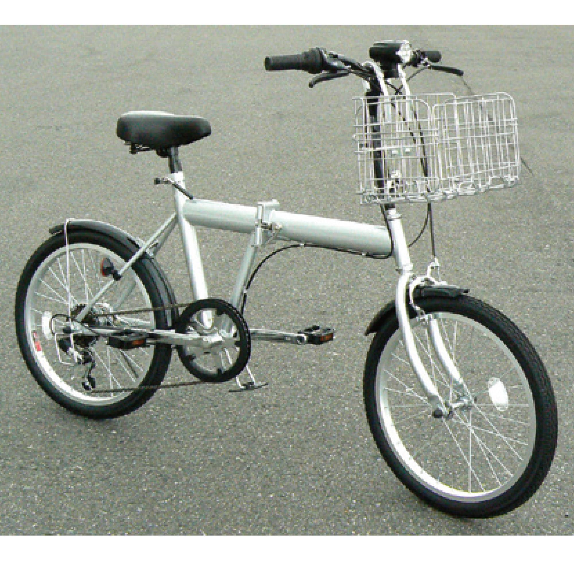 ノーパンク折畳自転車 本体のみ シルバー